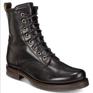 Frye Women Veronica Combat Leather Booties